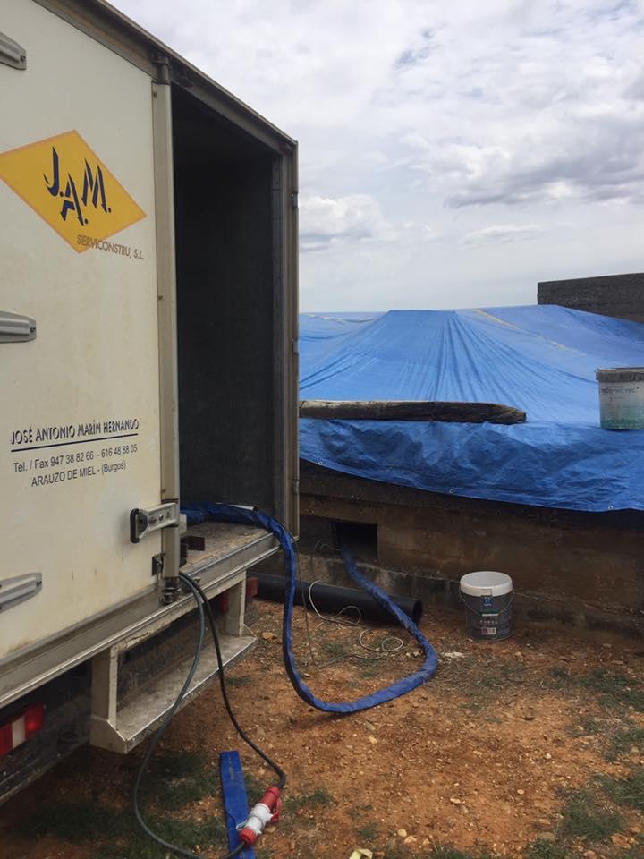Impermeabilizaci n dep sito de agua potable grupo aismar - Deposito de agua potable ...